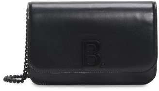 Balenciaga B Leather Wallet-On-Chain