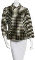 Marni Long Sleeve Checkered Jacket