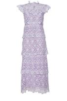 Giamba Tiered Lace Sleeveless Dress