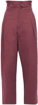Brunello Cucinelli Linen-blend Wide-leg Pants