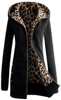 June's Young Woen Outerwear Spring Winter Thicken Sli Leopard Clothes 5 Colors