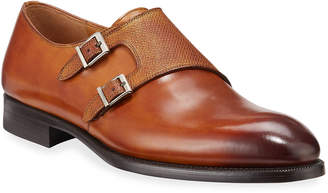 Magnanni Morgan Leather Double-Monk Dress Loafers