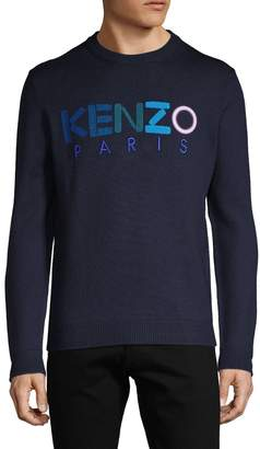 Kenzo Logo Embroidery Wool Pullover