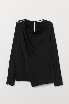 H&M Draped blouse