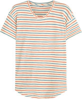 Madewell Whisper Striped Cotton-jersey T-shirt - Cream