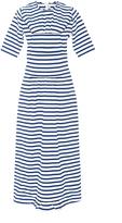 Marni Cotton Short Sleeved Striped Maxi Dress