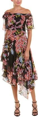 Josie Natori Silk Midi Dress