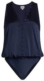 CAMI NYC Women's The Lorna Silk Blouson Bodysuit