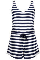 Solid & Striped The Romper Navy and White Stripe Playsuit