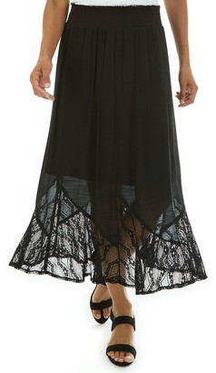 Apt. 9 Women's Lace-Hem Smocked Skirt
