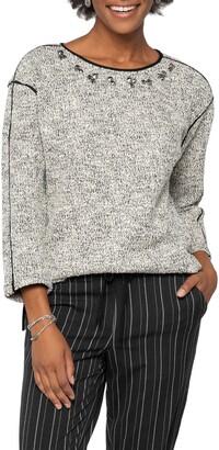 Nic+Zoe Jewel Dusted Sweater