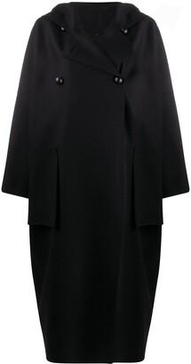 Maison Rabih Kayrouz Hooded Double-Breasted Coat