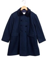 Oscar de la Renta Girls' Wool Double-Breasted Coat