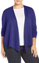 Nic+Zoe '4-Way' Convertible Cotton Blend Cardigan (Plus Size)