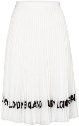 Burberry Logo pleated midi skirt