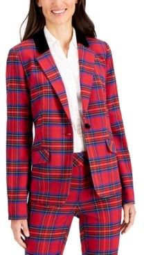 Charter Club Plaid One-Button Blazer, Created for Macy's
