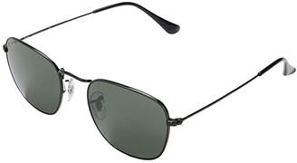 Ray-Ban 51 mm RB3857 Frank Square Metal Sunglasses (Black/Green) Fashion Sunglasses