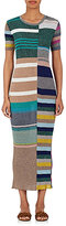 Missoni Women's Metallic Striped Rib-Knit Midi-Dress