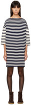 YMC Navy and Ecru Striped Pauline Sweater Dress