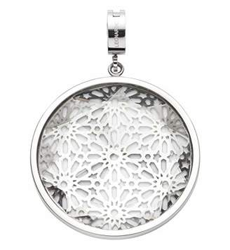 Jewels By Leonardo Leonardo Jewels women pendant Ginerva Darlin's stainless steel/silver colored glass transparent Darlin's Clip groß round circle flower blossom ornament 016541