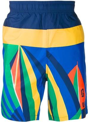 Polo Ralph Lauren Sailboat print bermuda shorts