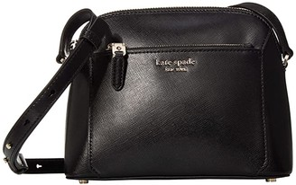 Kate Spade Louise Medium Dome Crossbody (Black) Handbags