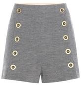 Chloé Embellished Wool Shorts