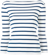 Polo Ralph Lauren striped breton top - women - Cotton - L