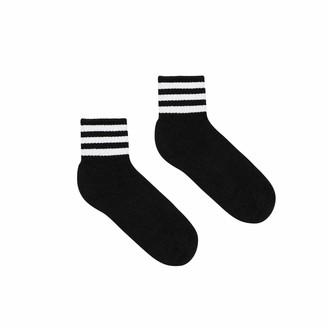 American Apparel Women's Striped Ankle Socks