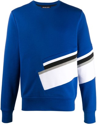 Michael Kors Stripe Detailed Crew Neck Sweatshirt