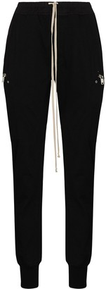 Rick Owens Fitted Heavy Jersey Track Pants