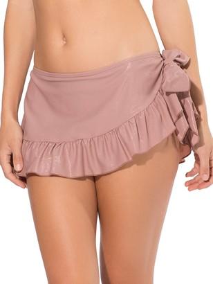 Smart & Sexy Women's Ruffled Side-tie Bikini Bottom Skirt