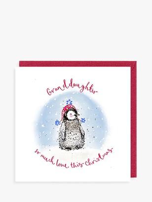 Louise Mulgrew Designs Penguin Granddaughter Christmas Card