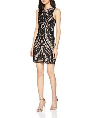 Molly Bracken Women's Ladies Woven Dress Party, Noir Black/Nude, Medium (Size: M)