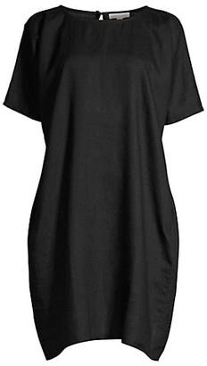 Eileen Fisher Roundneck Linen Shift Dress
