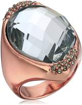 """Robert Lee Morris Cocktail Hour"""" Pave Faceted Stone Rose Gold Sculptural Ring, Size 8.5"""
