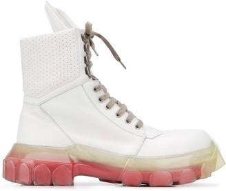 Rick Owens Chunky Sole Leather Boots