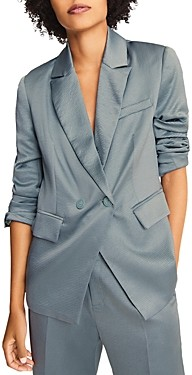 BA&SH ba & sh Wilie Textured Double Breasted Blazer