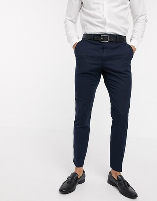 French Connection wedding slim fit flannel suit pants