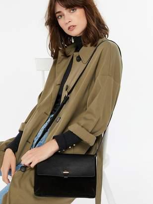 Accessorize Isabella Leather Cross Body Bag - Black