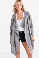 Silence & Noise Silence + Noise Oversized Button-Down Cocoon Cardigan