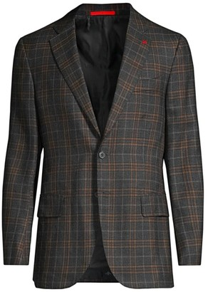 Isaia Top Cash 4 Seasons Plaid Sportcoat