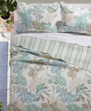 Greenland Home Fashions Atlantis Jade Quilt Set, 3-Piece King