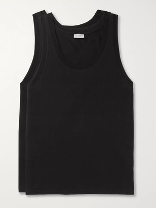 Dolce & Gabbana Day By Day Two-pack Stretch-cotton Jersey Tank Tops - Black