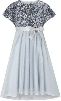 Monsoon Girls Truth Cape Sequin Maxi Dress - Blue