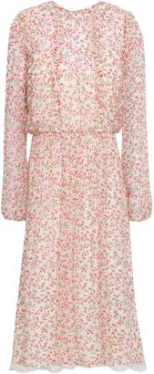 Mikael Aghal Floral-print Georgette Midi Dress