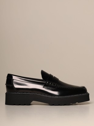 Tod's Tods Loafers Tods Moccasin In Brushed Leather With Rubber Sole