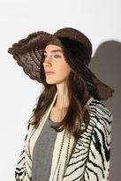 Lacy Edge Floppy Straw Hat