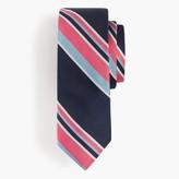J.Crew Italian silk tie in wide stripe
