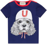 Gucci Baby T-shirt with puppy print